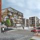 Korsning Hotell_Föreningscentrum_5_våningar  grön balkong