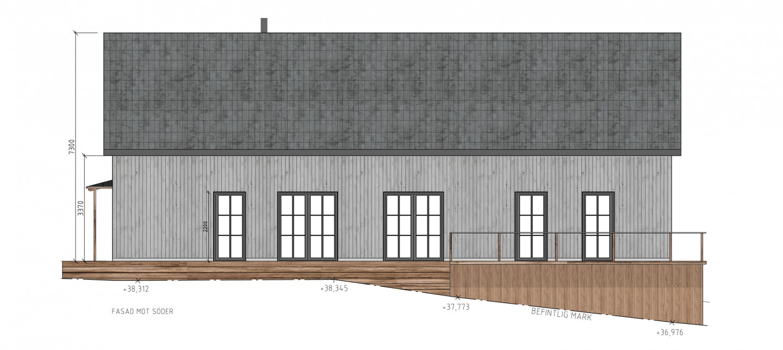 fasad mot söder